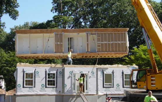 Install of Second Floor on Modular Home