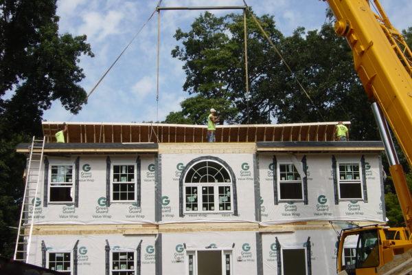 Rasing second story onto modular build