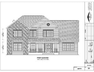 Andover modular home front elevation