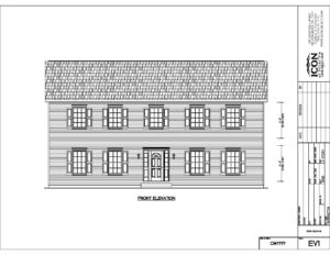 Barrington home build front elevation drawing