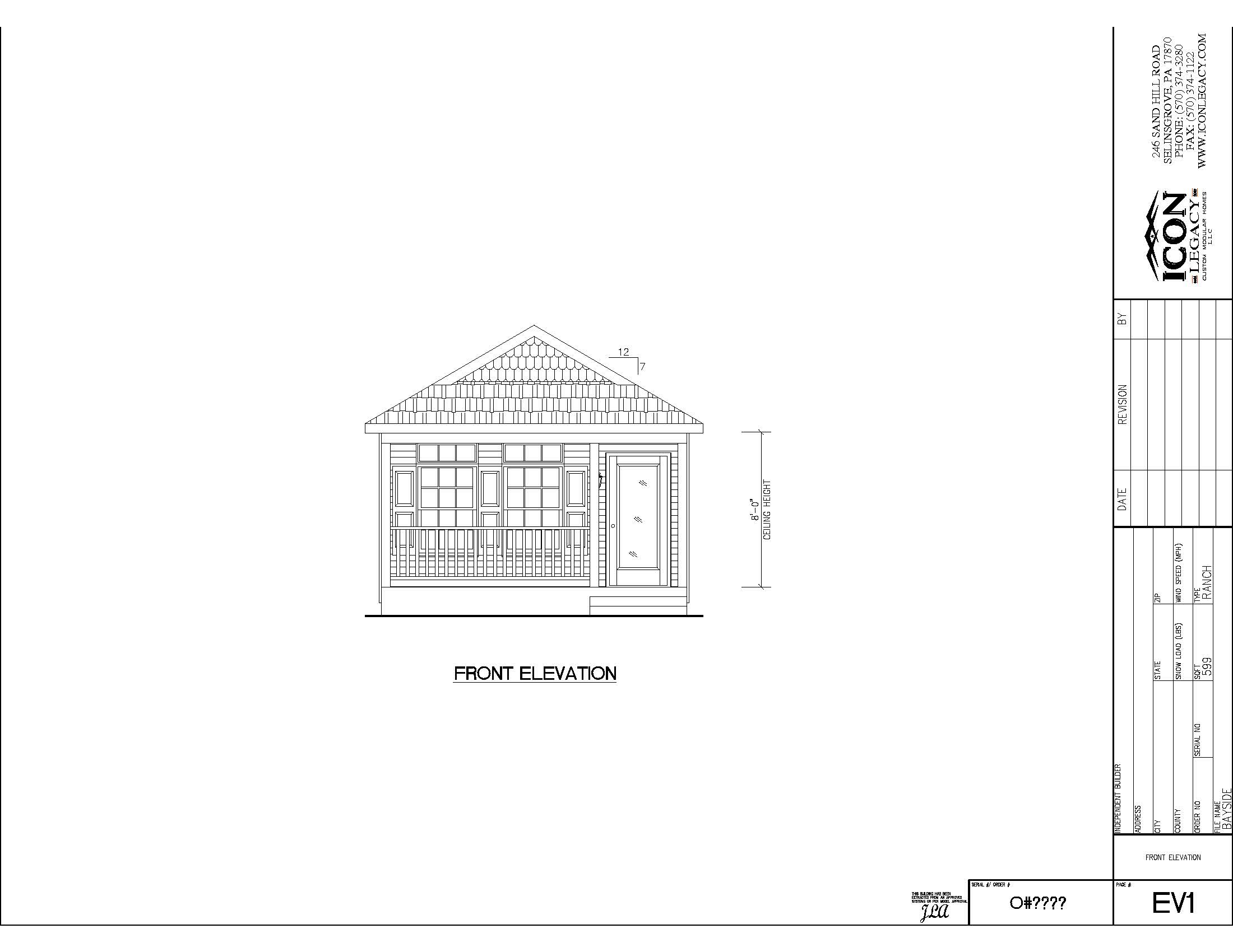 Bayside modular home design
