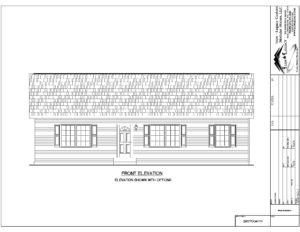 Single Story Home Front Elevation