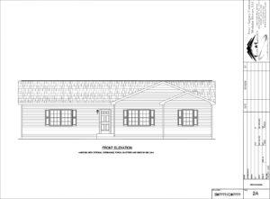 Silver Lake Modular Home Drawing