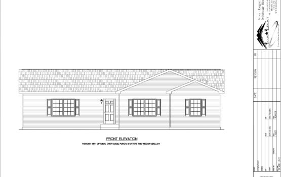 Silver Lake Modular Home Drawing